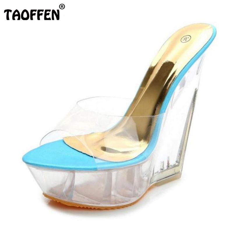 fashion high heel sandals see through
