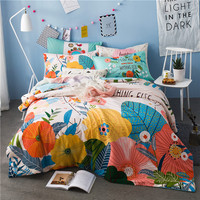 IvaRose girls/boys bedding set bright color tree bed linen kids duvet cover sets twin full queen size