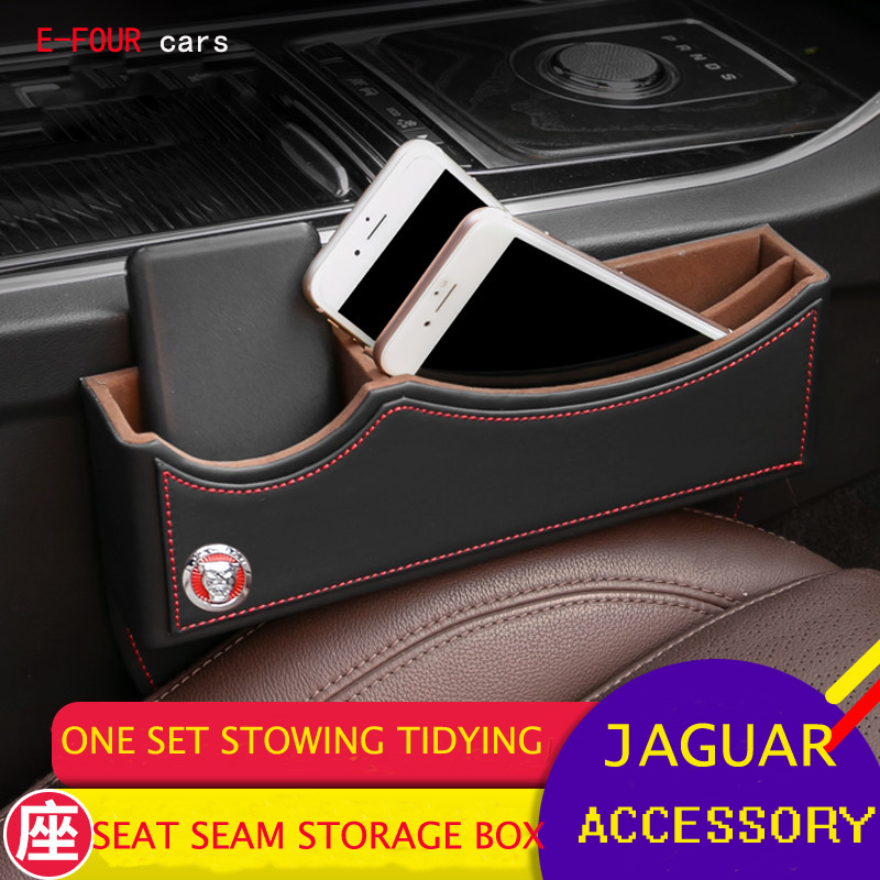 Image 2 - E FOUR Car Seat Crevice Storage Box Luxury Quality Cars Interior Accessories Leather Storage Bag Cars Stowing Tidying Organizer-in Stowing Tidying from Automobiles & Motorcycles