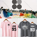 ALLKPOPER Kpop BTS Tshirt Wings Stripe T-shirt Bangtan Boys JUNG KOOK JIMIN SUGA  V