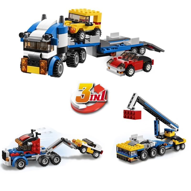 DECOOL City Creator 3 en 1 Transportador de vehículos Grúa Bloques - Juguetes de construcción - foto 1