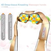 Massage Relaxation 3D U Shape SPA Massager Electric Neck Massager Vibrator Pillow Shiatsu Kneading Massager For