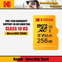 Kodak Memory Card micro sd 256gb Class10 Waterproof TF microSDXC U3 Card For smart phones 256gb