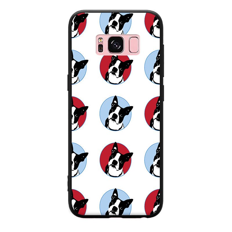 Interesting Cartoon bulldog View Pattern For Samsung Galaxy A3 A5 A8 J3 J5 J7 Hard Phone Case in Phone Bumpers from Cellphones Telecommunications