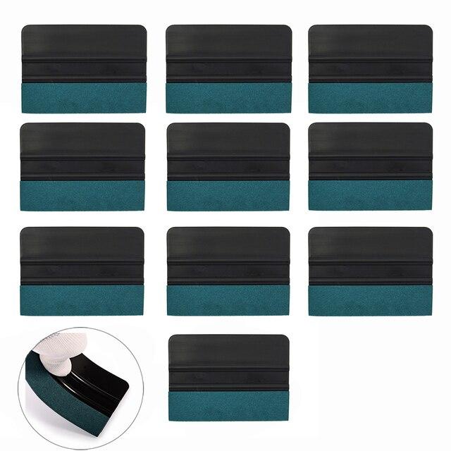 EHDIS 10 قطعة شريط الياف الكربون الفينيل ممسحة سيارة ملصق التفاف لا خدش الجلد المدبوغ ورأى مكشطة نافذة تينت أداة تنظيف السيارة