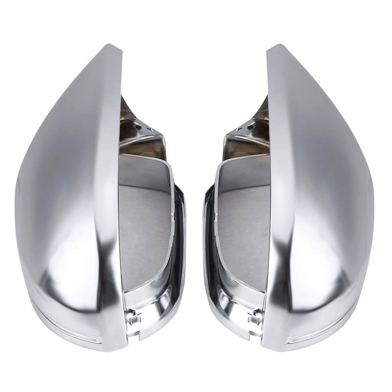 1 Pair Of Rearview Mirror Shell Cover Protection Cap Matte Chrome For Audi A6 C7 S6|Mirror & Covers| |  - title=