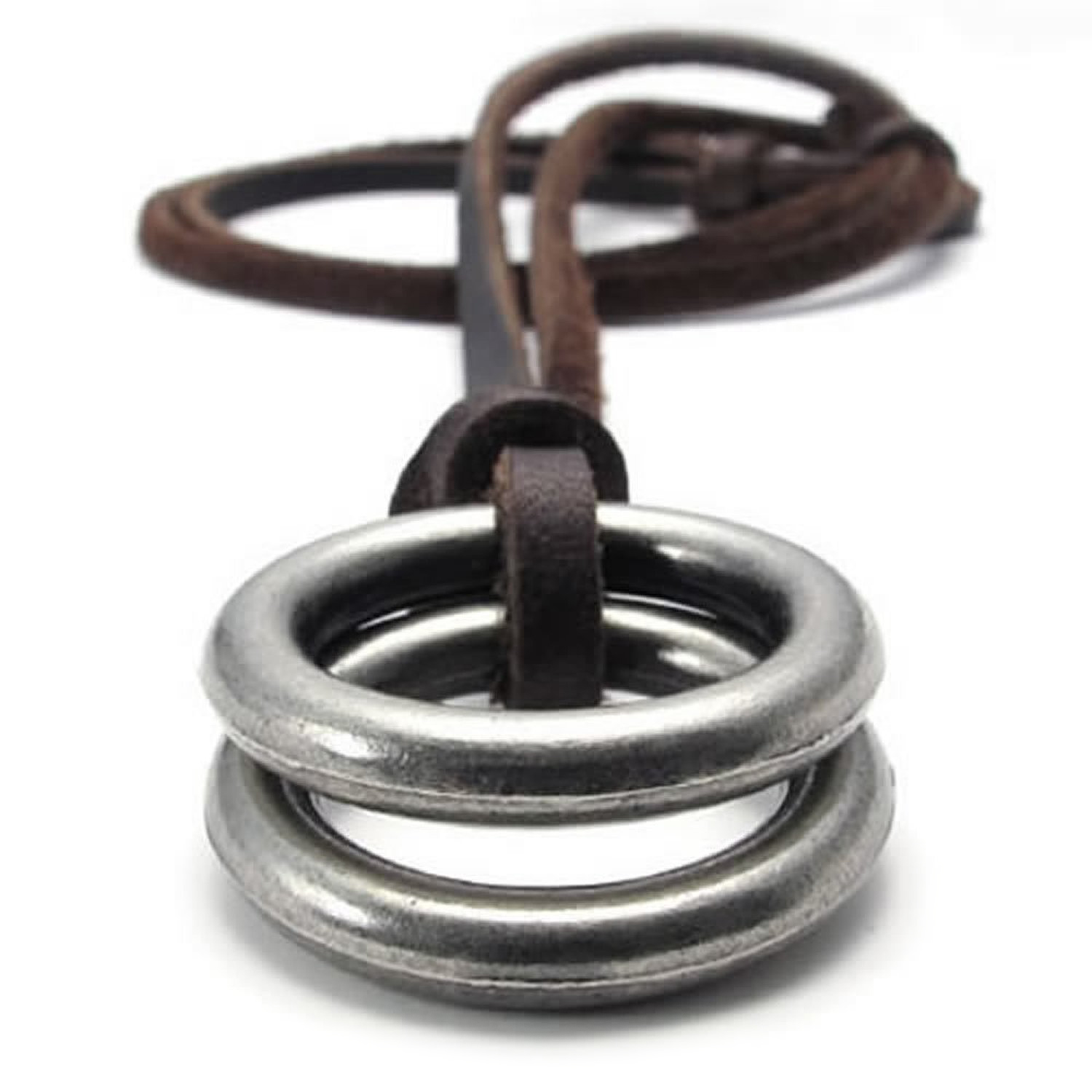 font b Jewelry b font Men s Ladies Necklace Pendant with Brown Leather Chain Brown