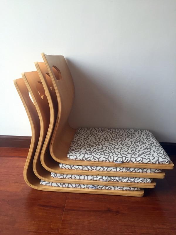 (4шт/лот)Японский татами Zaisu стул для гостиной мебель натурального цвета вентилятор форма Котацу стол стул татами безногий Zaisu