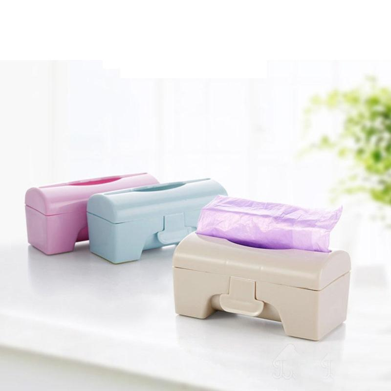 Kitchen Garbage Bags Storage Box Wall Mounted Bedroom Bathroom Holder Organizer Case Container