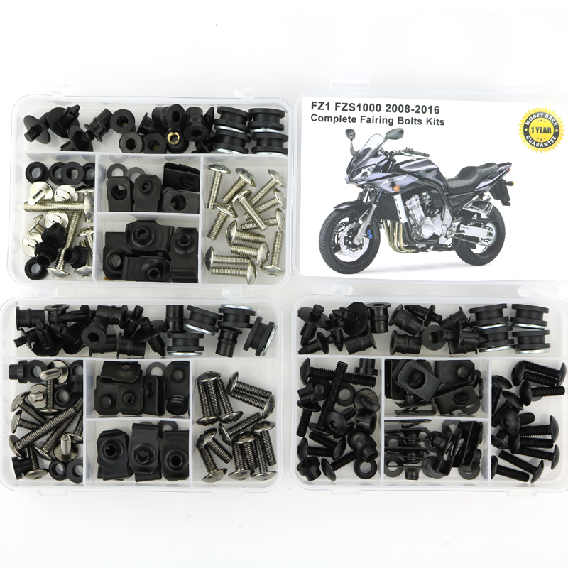 For Yamaha FZ1 FZS1000 Fazer 2008-2016 Complete Full Fairing Kit Motorcycle Cowling Bolts Kit Side Covering Bolt OEM Style SteelFor Yamaha FZ1 FZS1000 Fazer 2008-2016 Complete Full Fairing Kit Motorcycle Cowling Bolts Kit Side Covering Bolt OEM Style Steel
