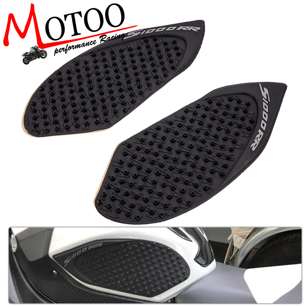 Motoo- New Arrival Black Motorcycle Tank Traction Side Pad Gas Fuel Knee Grip Decal For BMW S1000RR 2009-2015