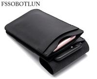 FSSOBOTLUN Universal 6 0 Inch Double Pocket Waist Belt Microfiber Leather Case For Sony Xperia C5