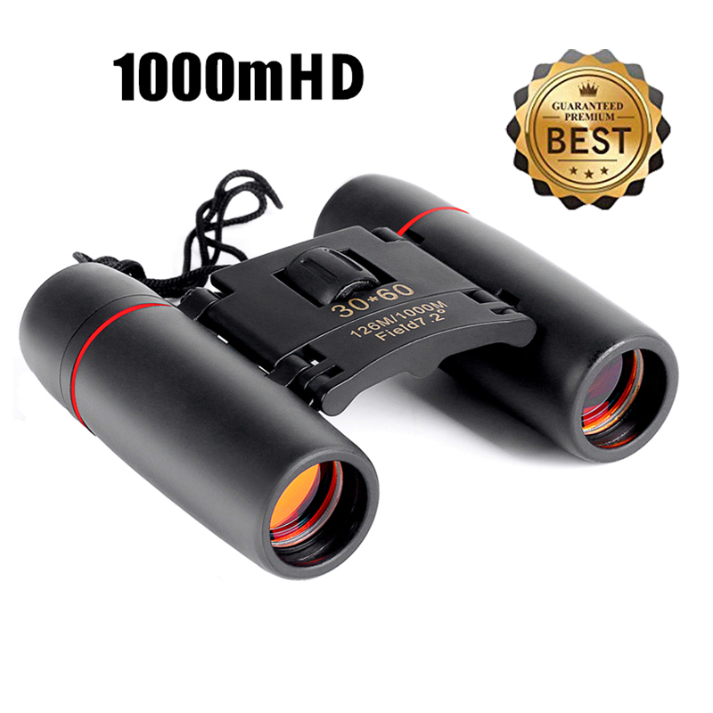 Zoom Telescope 30x60 Folding Binoculars with Low Light Night Vision for outdoor bird watching travelling hunting camping 1000m(China)