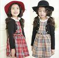 New arrival plaid Spring Autumn long sleeves Baby girl dress Kids dresses girls clothes roupas infantil meninas B0496