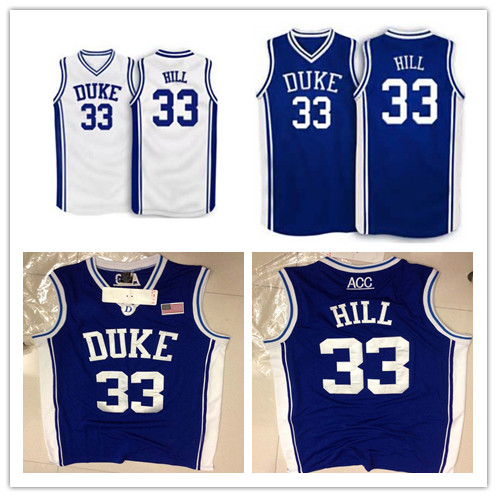 pretty nice 62488 4c147 33 Grant Hill Duke Blue College Basketball Jersey, Mens ...
