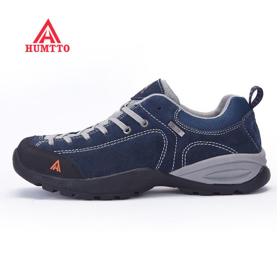 HUMTTO Men's Leather Sports Outdoor Hiking Trekking Shoes Sneakers For Men Sport Climbing Mountain Shoes , EUR 45-48 humtto women s leather outdoor hiking trekking sneakers shoes for women purple sports climbing mountain shoes woman sneaker