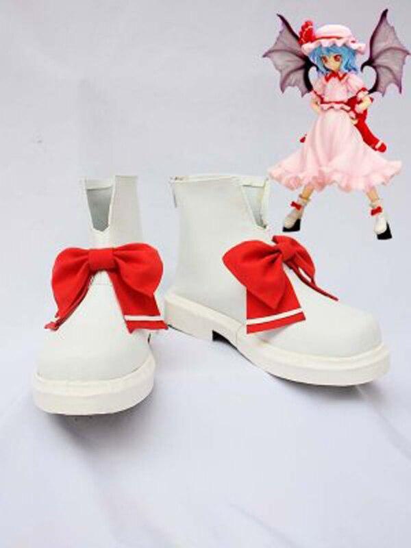 Touhou Projeto Remilia Scarlet Cosplay Botas Sapatos Festa Anime Cosplay Botas Custom Made para Adultos Sapatos Mulheres