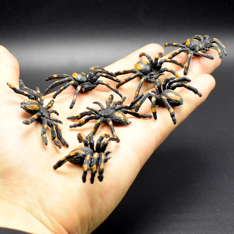 simulation Flower spider Scary toy Halloween props Insect Animal Model scary lifelike spider toy with squeeze to sound effects