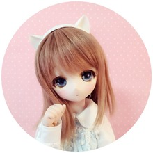 [wamami] White Cat Ear For 1/3 SD DZ DOD BJD Doll Dollfie Outfit