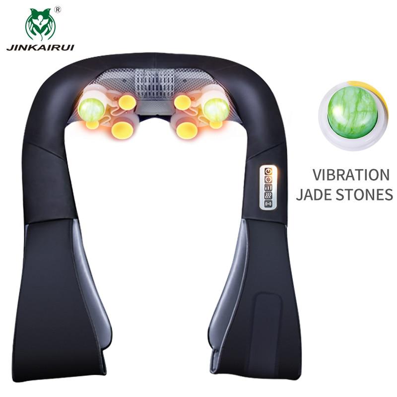 JinKaiRui punjive akumulatorske rame Massager Shiatsu gnječenje masaža Jade kamen Hammer Grijanje za auto Home Travel Use  t