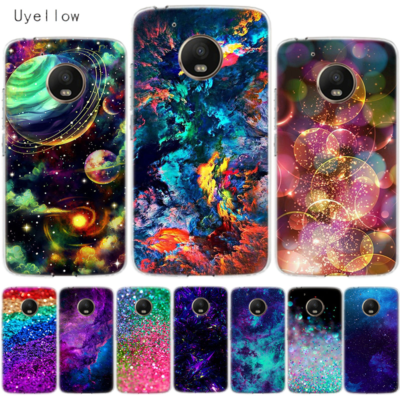 Uyellow Glitter Luxury Phone Cover For Motorola G4 G5 G5S G6 G7 E4 E5 Plus Play Case For Moto G7 Power Silicone Soft TPU Coque in Fitted Cases from Cellphones Telecommunications