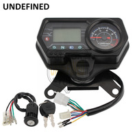 Motorcycle Speedometer Odometer 12V Digital Backlight Dashboard Tachometer Indicator Meter for Honda CG125 Moto UNDEFINED