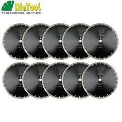 DIATOOL 10 piezas/pk 14 pulgadas profesional segmentada Sintered diamante Sierra hoja Dia 360mm disco de corte húmedo para bloque de hormigón de la pavimentadora