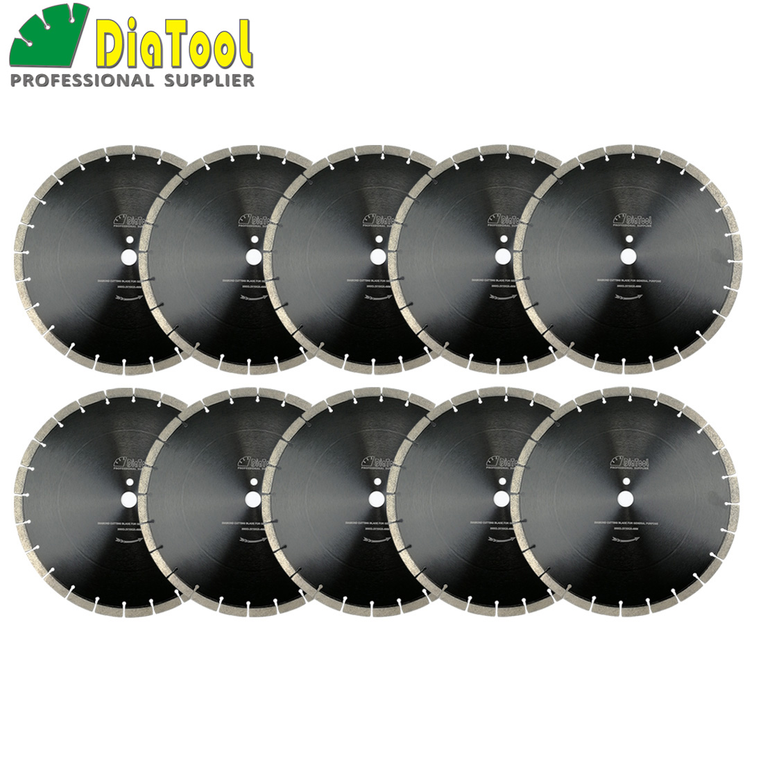 DIATOOL 10pcs/pk 14inch Professional segmented Sintered Diamond saw blade Dia 360mm Wet Cutting Disc for Concrete Block Paver 2 pcs super thin sintered diamond blade cutting disc for jade agate stone wet grinding with cooling water jgs031