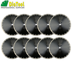 DIATOOL 10pcs/pk 14inch Professional segmented Sintered Diamond saw blade Dia 360mm Wet Cutting Disc for Concrete Block Paver