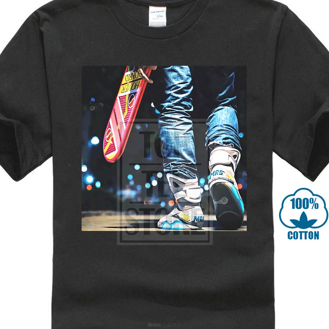 Retour vers le futur t-shirt blanc taille S Xxxl 80S Marty Mcfly Hoverboard Air Mag