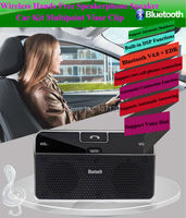 2015 New High Quality Bluetooth Car Kit Stereo Handsfree Speakerphone With Car Charger Universal MP3 Audio
