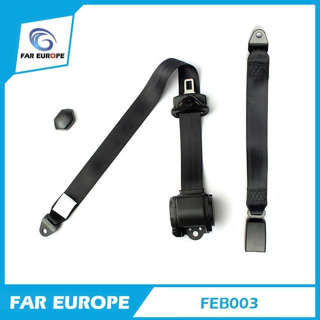 Универсальный Выдвижной 3 Точки ELR Авто Ремней Безопасности для Всех Автомобилей Черный Цвет (FEB003)