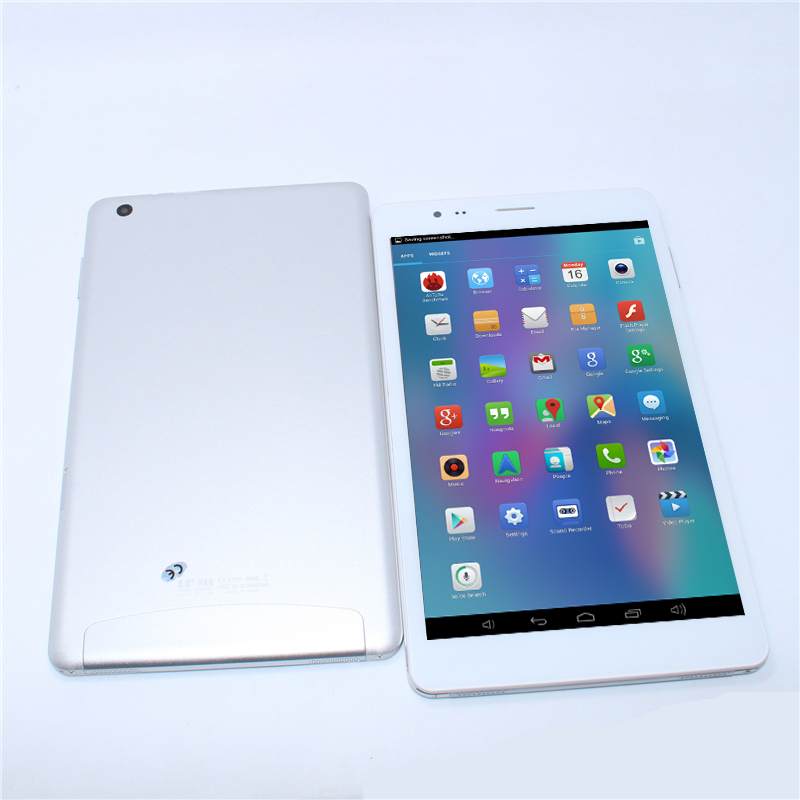 1GB/8GB ips screen WiFi g-sensor 8 inch mtk8389 Quad Core Android 4.2 Dual cameras FM Wifi1280*800 phone call tablet pc