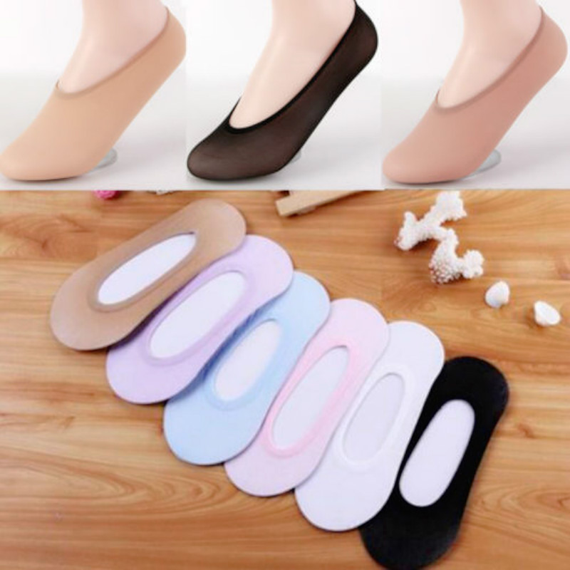 New 1 Pair Womens Antiskid Invisible Liner Socks No Show Cotton Peds Low Cut