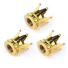 4 шт./лот хром Золотая Корона дизайн шин/колесо, Шпиндельный воздушный клапан шапки набор автомобиль грузовик стержень P25