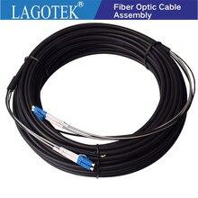 100 м LC UPC оптоволоконный коммутационный шнур, 2 ядра, оптический кабель, дуплексный GYFJH 2A1a 7,0 мм BBU.RRU, волоконный кабель для базовой станции