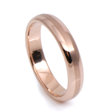 Tailor made 4mm centro cepillado rose gold tungsten anillo tamaño 4-18 (# nr30r)