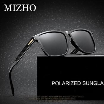 MIZHO di Marca Classic Sport di Qualità Piazza Occhiali Da Sole Polarizzati Uomini di Modo di Plastica Telaio Occhiali Maschio Occhiali Da Sole di Viaggio Oculos