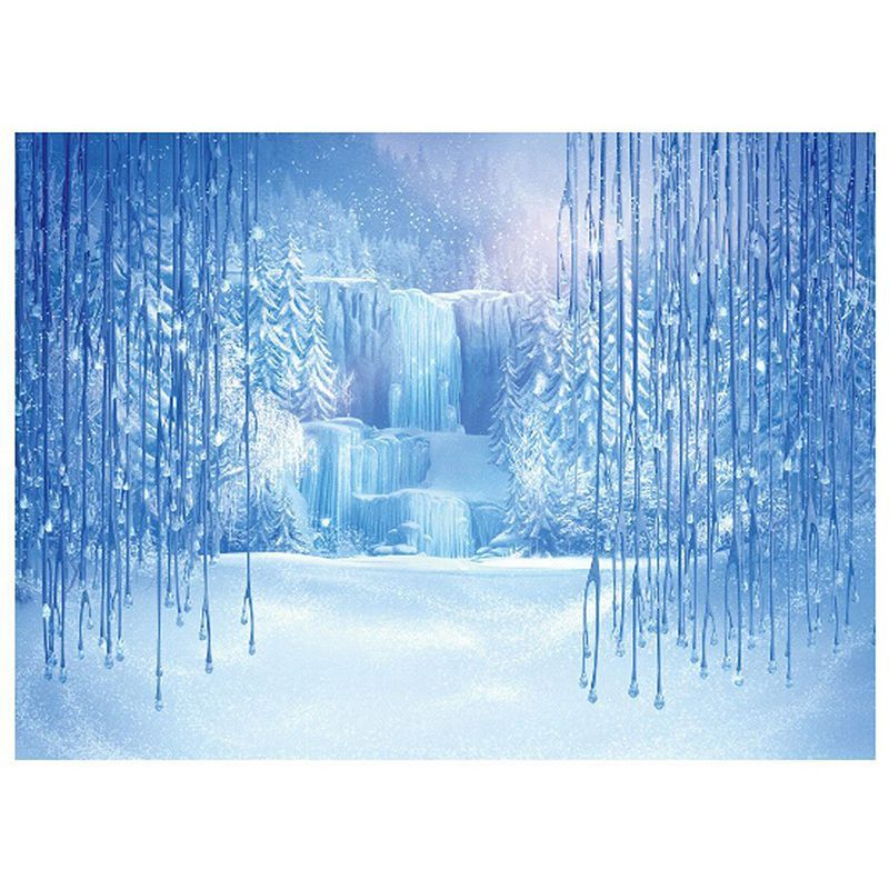 5x7ft Vinyl Winter Freeze Snow Ice World Backdrops Photography Background for Children Photo Studio Props Backdrop kidniu vinyl background photography for photo studio winter snow props trees wallpaper backdrops 9x5ft win1332