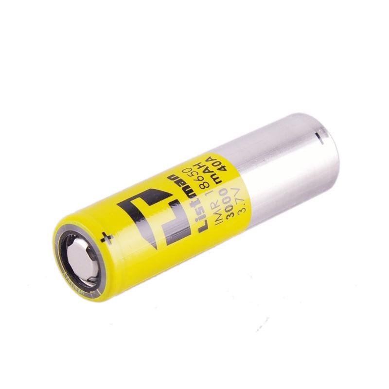 High Quality 18650 Battery Original Listman 3000mah 40A Rechargeable batteries for Electronic Cigarette Box Mod vs LG HG2 HE4 1pcs 10pcs liitokala new dbhe41865 2500mah he4 lithium battery 18650 3 7v power electronic batteries 20a discharge for lg