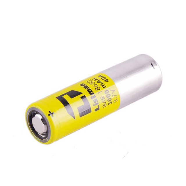 High Quality 18650 Battery Original Listman 3000mah 40A Rechargeable batteries for Electronic Cigarette Box Mod vs LG HG2 HE4