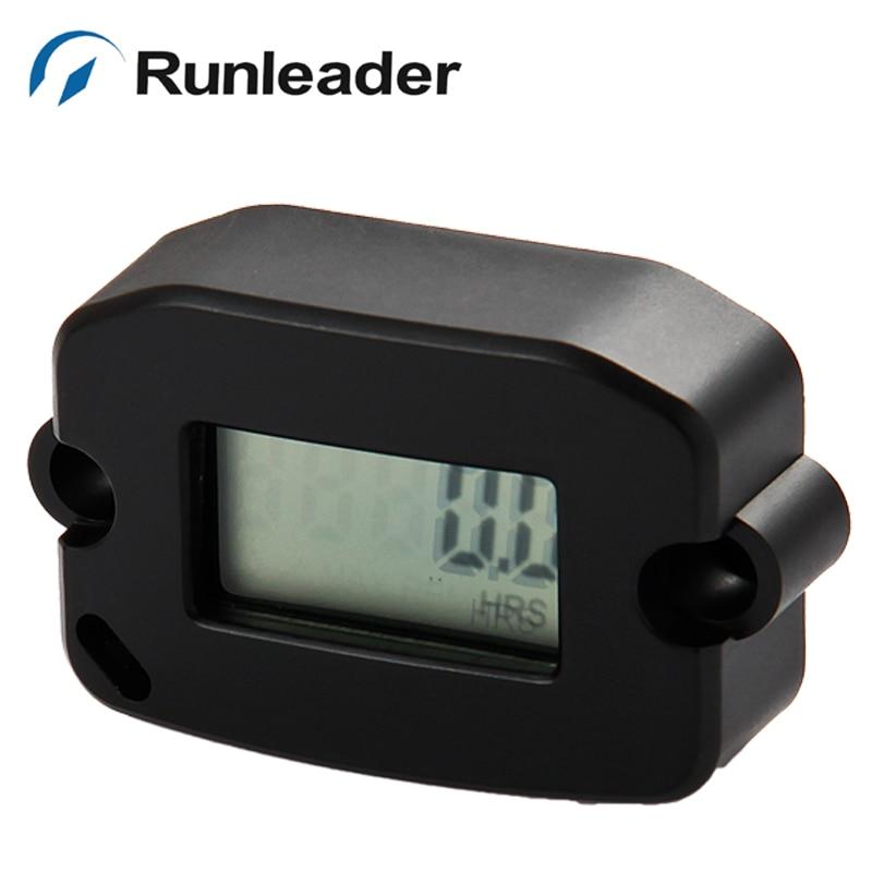 Free shipping (10pcs/lot) Runleader Inductive rpm hour meter tachometer for jet ski motorcycle marine pit bike chainsaw ATV UTV