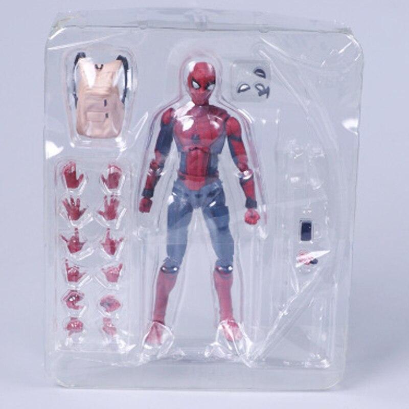 Человек-паук выпускников СВЧ 15 см diy-паук Super Heroes фигурку Детский подарок Коллекционная модель игрушки с коробкой