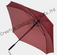 Square shape,130cm diameter golf umbrella,universal firgured shape.14mm fiberglass shaft and 3.5mm fiberglass ribs,drop shipping