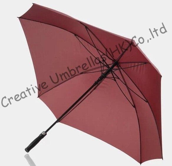 Forme carrée, 130 cm diamètre parapluie de golf, universel firgured shape.14mm en fiber de verre arbre et 3.5mm en fiber de verre côtes, drop shipping
