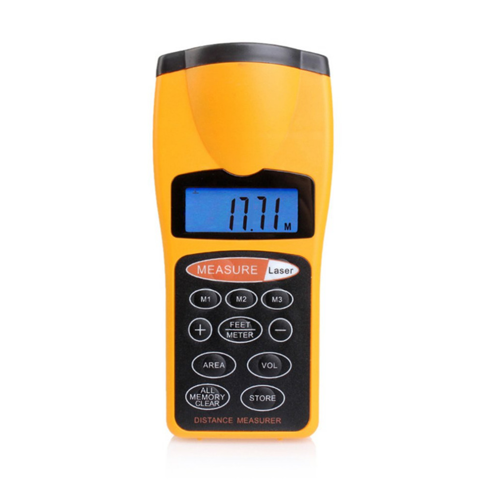 Portable Hand Held Measuring Machine Ultrasonic Infrared Laser Level Meter Digital LCD Display Distance Measurement MachineKF031 uf 8780 hand held portable digital double laser infrared mini infrared thermometer 50 780 degree