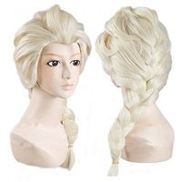 Cosplay wg Long Weaving Braid Light Blonde Wigs
