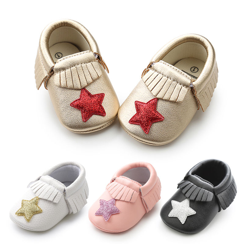 Baby Shoes Popular Brand 2018 Bright Leather Baby Moccasins Skid-proof Sole Baby Girl First Walkers Newborn Sapatos Spring Summer Baby Shoes Bebe Zapatos Cheapest Price From Our Site