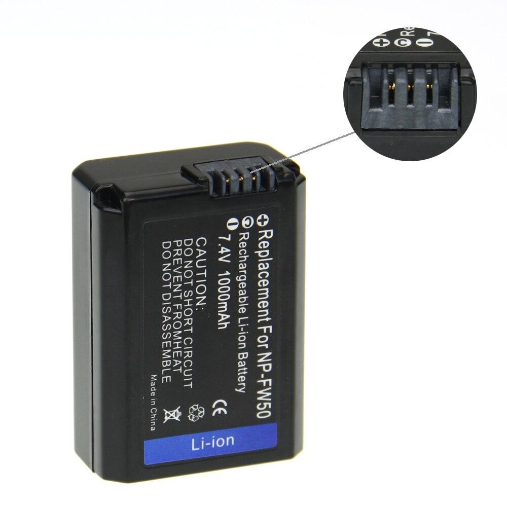 Digital boy 3Pcs 7.2V NP-FW50 NP FW50 NPFW50 Battery + Charger + Car Charger For Sony Alpha NEX-7 NEX-C3 NEX-5N NEX-5