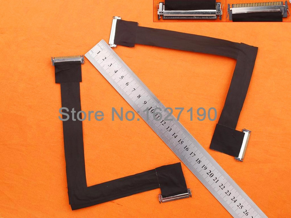 New LCD LED Video Flex Cable For LCD Cable For Apple iMac 27 A1312 2010 years PN:593-1281-A 593-1028-A soncci lcd video flex cable for hp probook 4330s 4535s laptop screen display cable